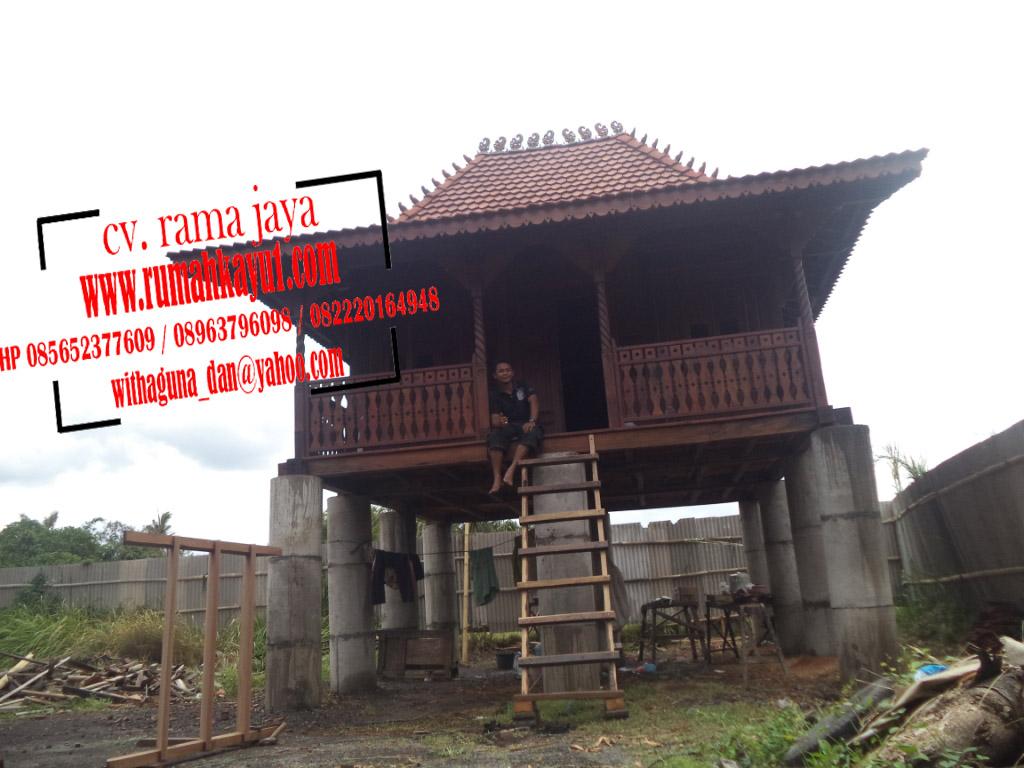 jual rumah kayu murah