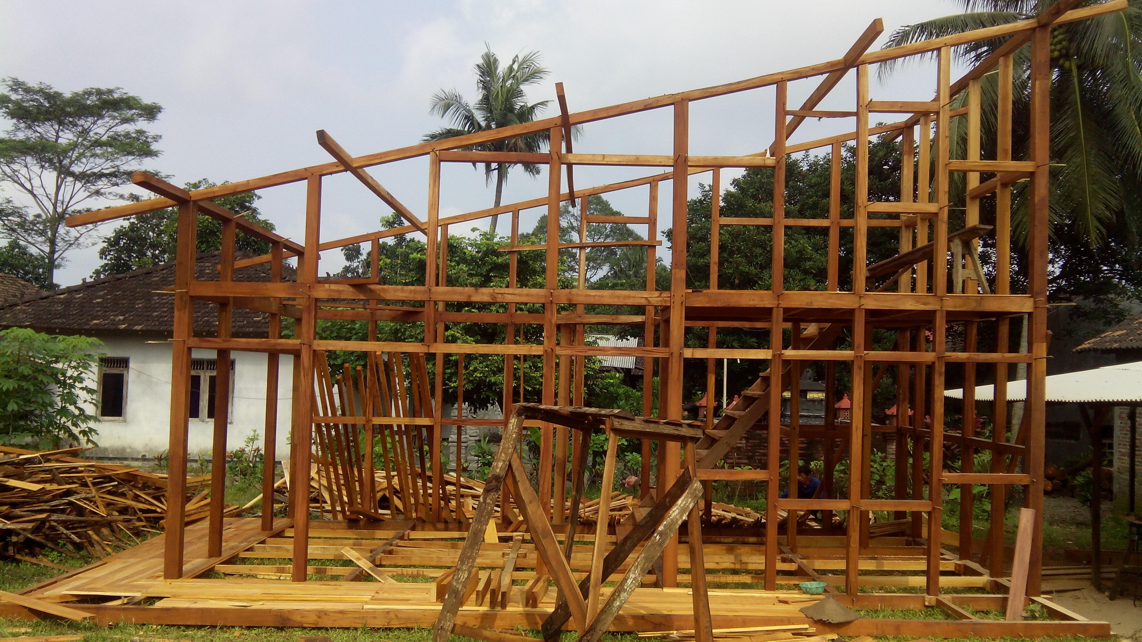 jual rumah kayu di jakarta bogor bandung depok tangerang