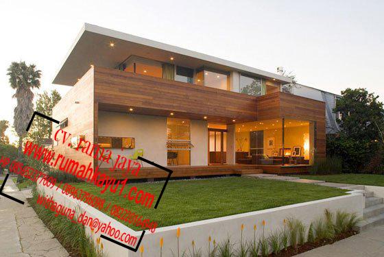 jual rumah kayu minimalisan