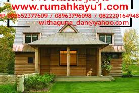 jual rumah kayu di malang