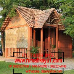 jual rumah kayu ukuran kecil