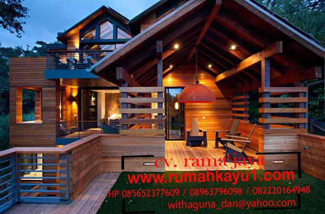 jual rumah kayu istimewa