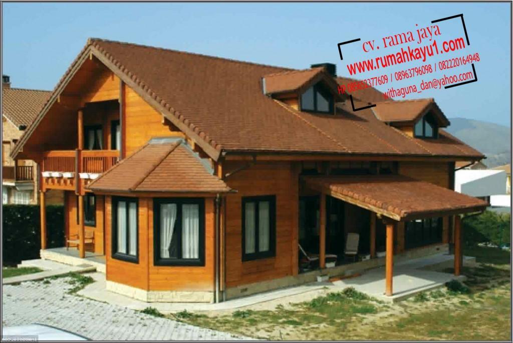 jual rumah kayu minimalis di banten