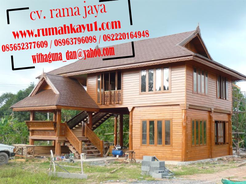 gambar rumah kayu panggung minimalis murah