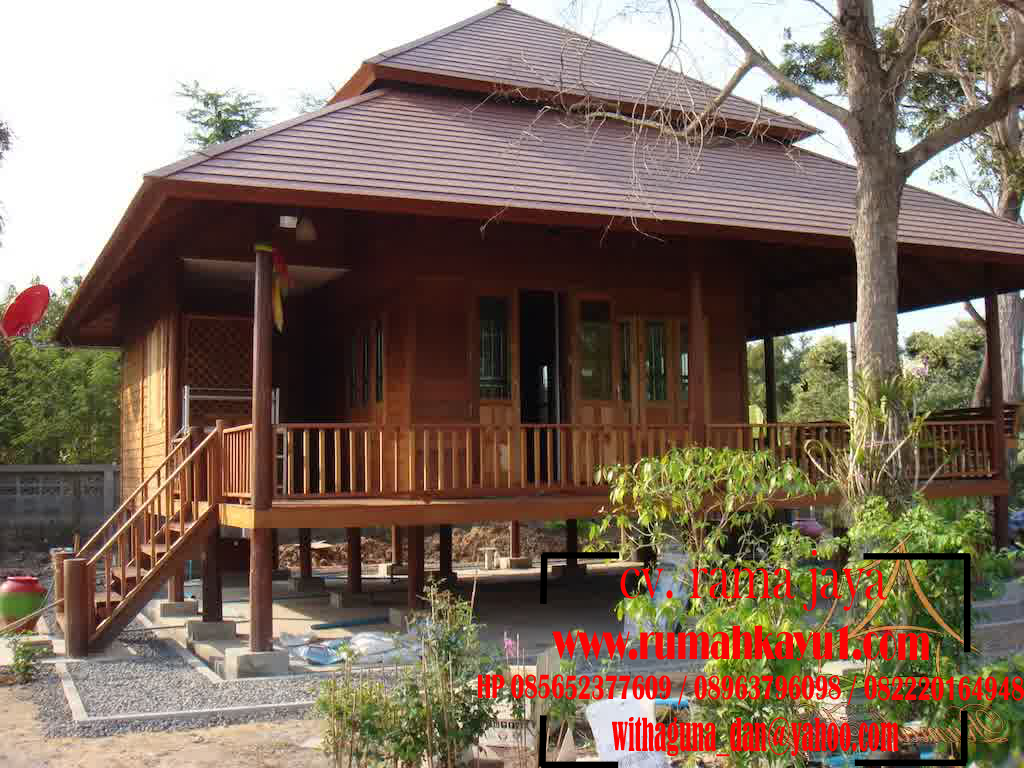 rumah kayu panggung minimalis murah