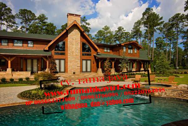 harga rumah kayu murah