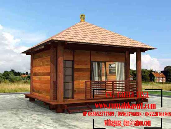 jual rumah kayu kecil