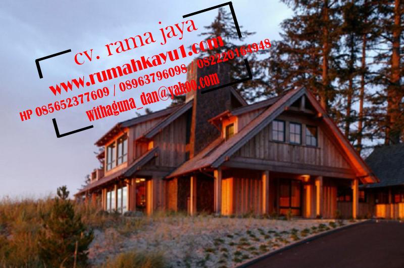 jual rumah kayu unik