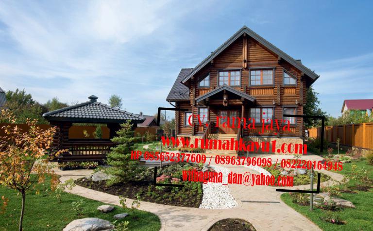 jual rumah kayu murah meriah