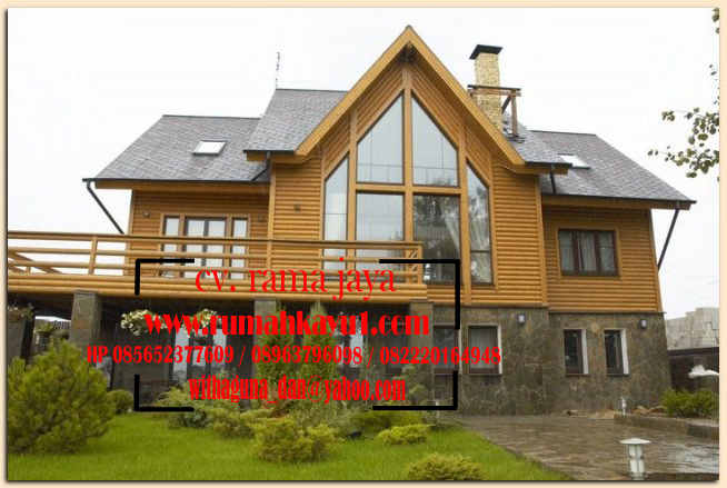 jual rumah kayu tembok