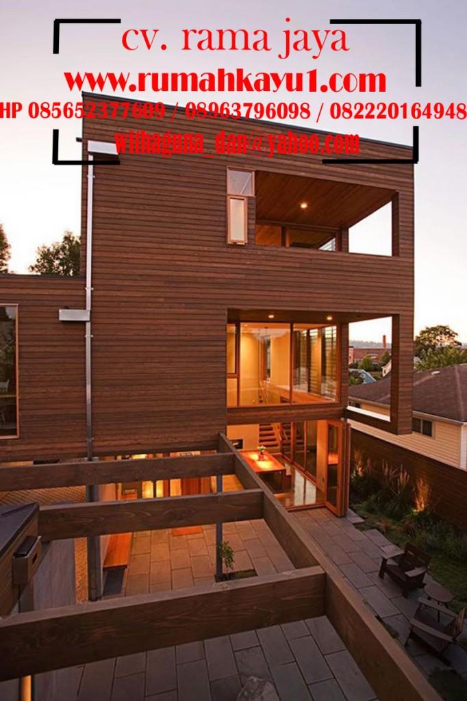 jual rumah kayu elegan