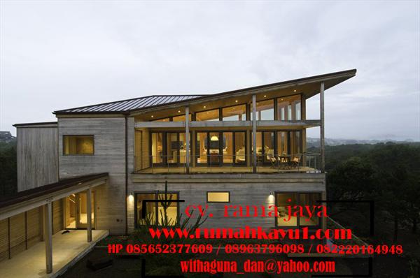 jual rumah kayu tingkat minimalis