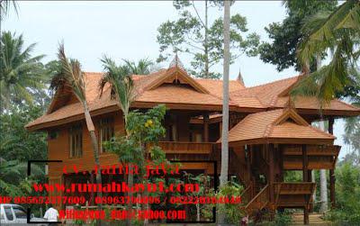 jual rumah kayu panggung adat