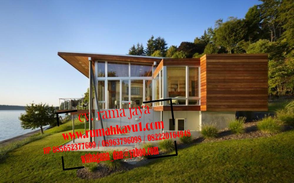jual rumah kayu minimalis