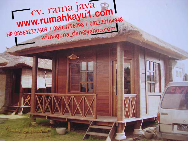 rumah kayu minimalis murah di pontianak