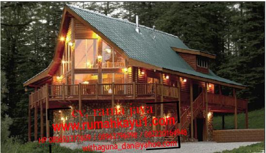 jual rumah kayu modern