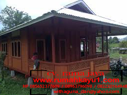jual rumah kayu di singkawang