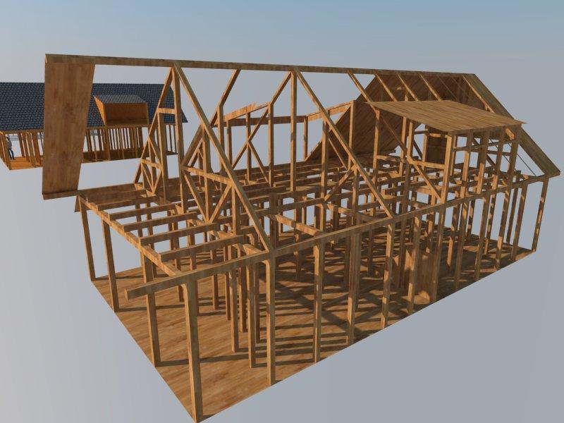 disain rangka rumah kayu
