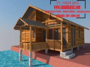 jasa desain rangka rumah kayu