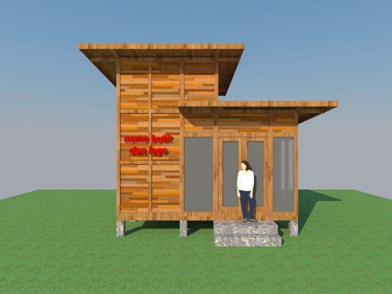 disain rumah kayu mini