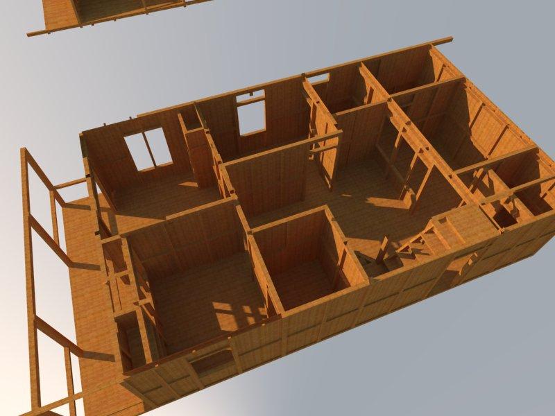 desian rumah kayu 3 dimensi