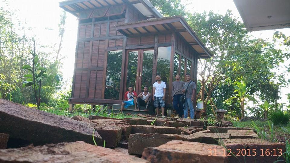 rumah kayu mini tingkat, jual rumah kayu mini