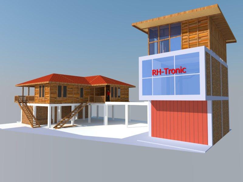 Disain rumah kayu panggung