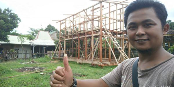 Rangka rumah kayu tingkat, rumah kayu tahan gempa, rumah kayu knock down