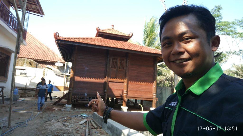Jual rumah kayu kelapa, jual rumah kayu gelugu