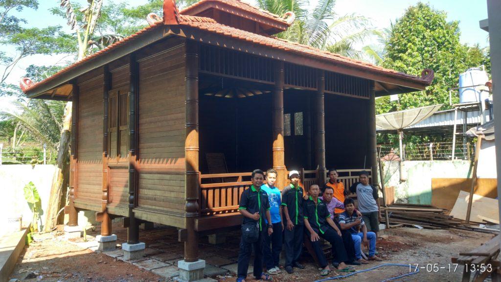 jual rumah kayu gelugu kelapa