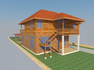 jasa desain rumah kayu, design rumah kayu, desain rumah kayu